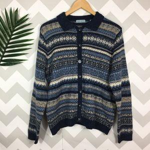 Vintage chunky sweater cardigan size M
